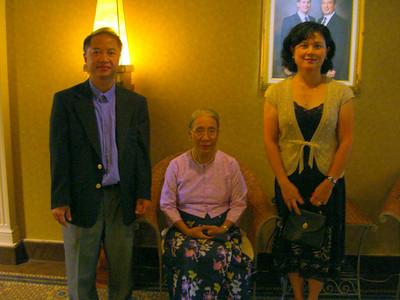 with Sayamagyi Daw Khin Mar Mar (Hematology)