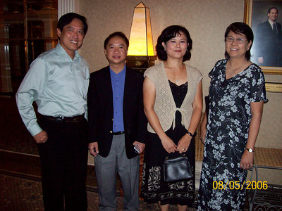 Saya George Hlaing Mya, Peter Leong, Wah Wah Thi and Saya George's wife photo credit: WWT