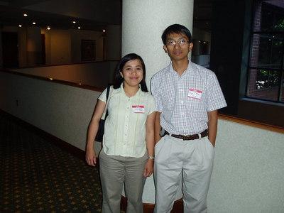 Dr Mya Sanda Thein and Dr Aye Min (from 1993 batch)   photo credit: Mya Sandar Thein