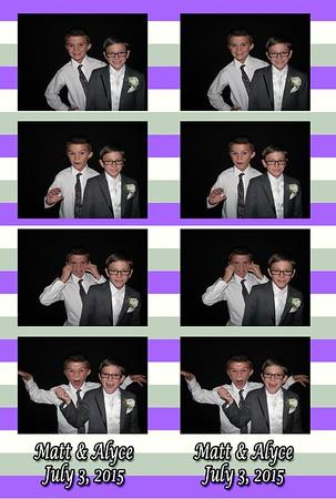 Alyce and Matt wedding 07/03/15