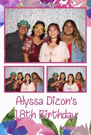 Alyssa''s 18th 080418 Rudy's BBQ, Richmond, TX 77469