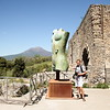 There were a series of monumental, bronze sculptures by Igor Mitoraj currently on display at Pompeii.  Here is Radek admiring one of the sculptures.haeological excavations of Pompeii in May.