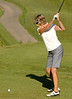 Local golfer, Dee Robertson of Iberia plays on her home course.