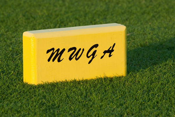 Brand new MWGA tee markers for the Amateur Championship