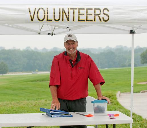 Spotter Chairman, Bill Tillotson mans the volunteer checkpoint