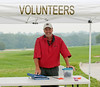 Spotter Chairman, Bill Tillotson mans the volunteer checkpoint