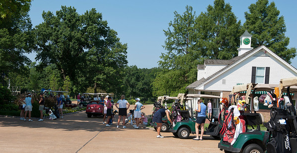 Bellerive Country Club Pro Shop and cart area