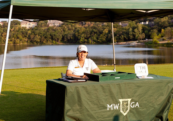 Nancy McWilliams, MWGA Secretary was the starter each day for the Amateur Championship.