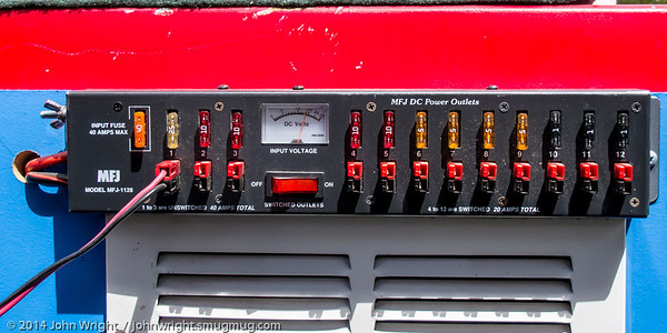 Power panel on Joe Bennett's cart