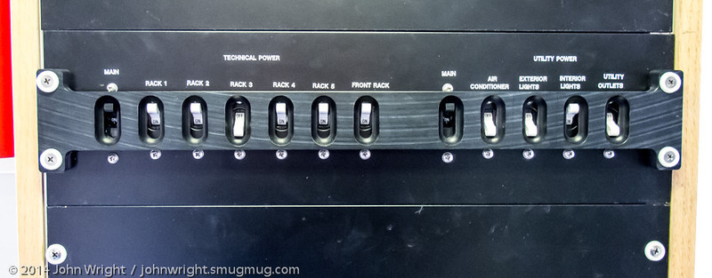 Power distribution panel in the ARES trailer