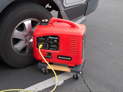 Clever idea for moving a generator around.
