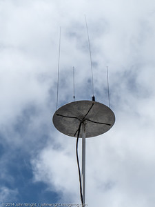 Antennas on the Red Cross trailer