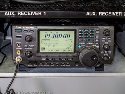 IC-746 Pro in the ARES trailer