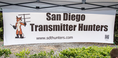 The San Diego T- Hunters booth.