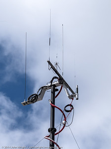 Close up of antennas on the ARES trailer