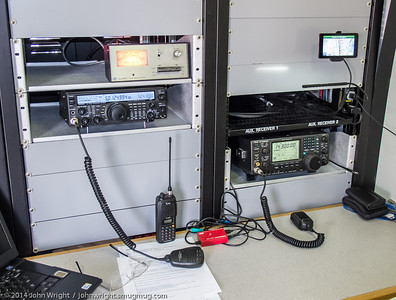 Radios inside the ARES trailer