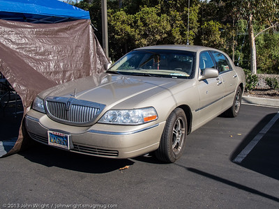 The famous Lincoln Town car...