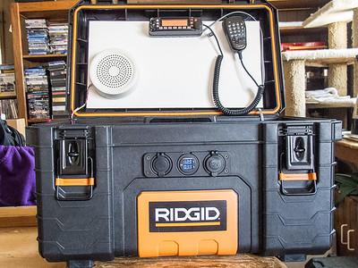 Radio box powered up
