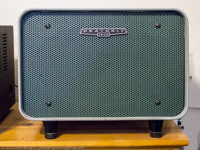 Heathkit SB-600 speaker with HP-23 power supply inside.