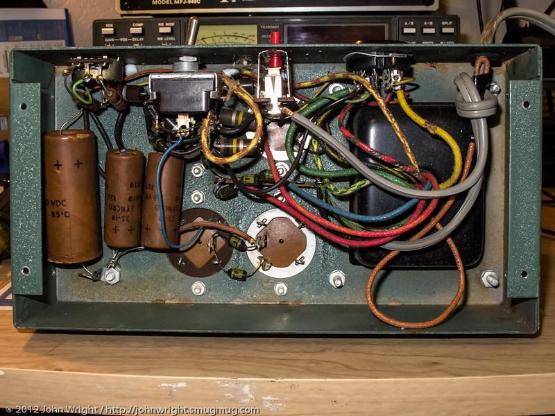 Heathkit HP-23-A power supply interior