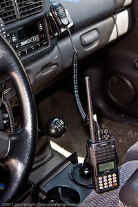 Yaesu FT-270R HT in the truck.