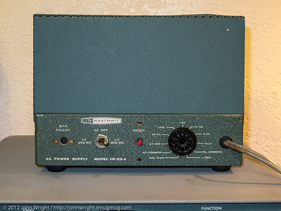 Heathkit HP-23-A power supply cover installed