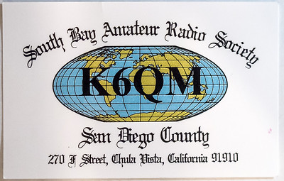 K6QM.  South Bay Amateur Radio Society