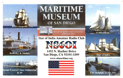 NS6OI.  San Diego Maritime Museum
