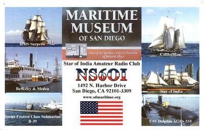 NS6OI.  San Diego Maritime Museum