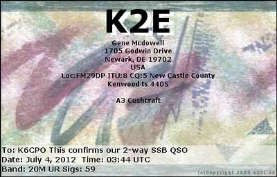 K2E e-QSL