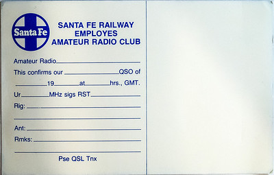 Reverse of the Santa Fe card.