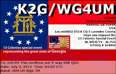 K2G e-QSL