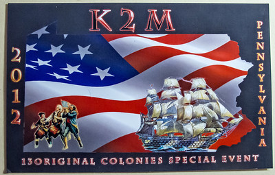 K2M.  2012 13 Original Colonies Special event