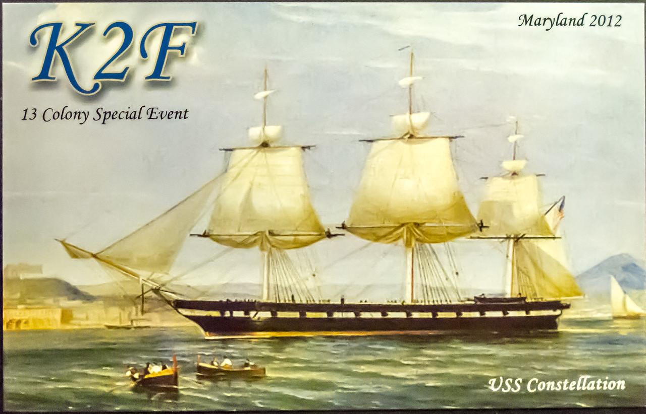 K2F.  2012 13 Original Colonies Special event