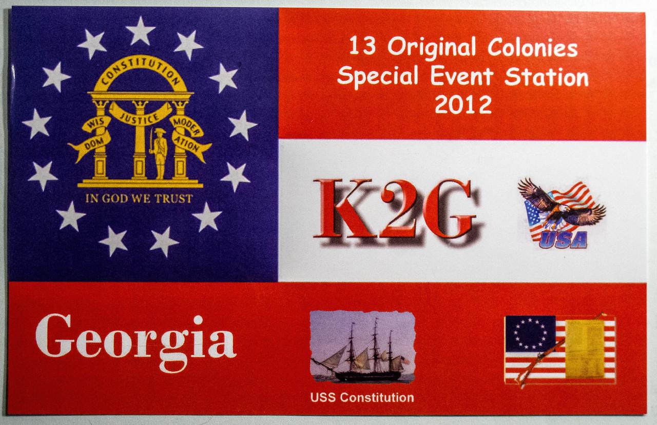 K2G.  2012 13 Original Colonies Special event