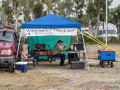 Joe Bennett, W6VMX, operating 20 meter phone