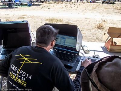 Mark Wallace, KJ6NMJ, working digital on 20 meters