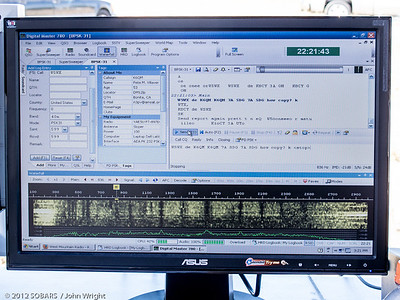 Computer screen shot showing BPSK-31 digital mode.