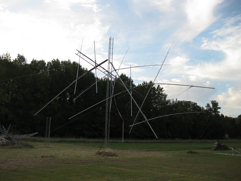 The storms definitely did a number on this array!