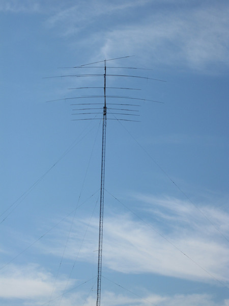 17/12 meter yagi on top has hurricane twisted element.  KT36XA and 40 meter yagi.