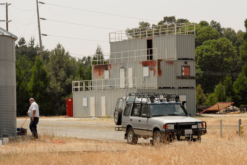 The CDF facility includes training buildings made out of containers.  There have been a lot of fires in California this year, and have been warned about conditions that would make it necessary for us to move locations.