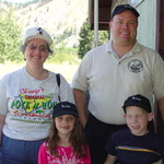 AD7HM Eric with his family in Dryden.