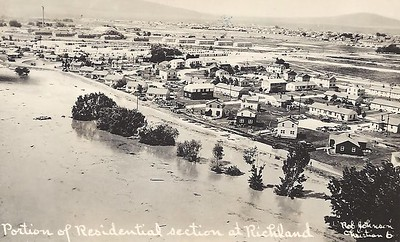 The city of Richland after the flood.