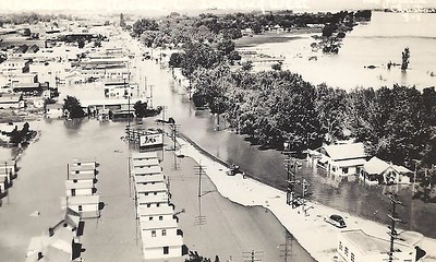 The city of Kennewick after the flood.