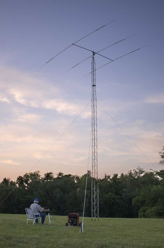K0OU testing the CW antenna. - <i>Friday, evening</i>