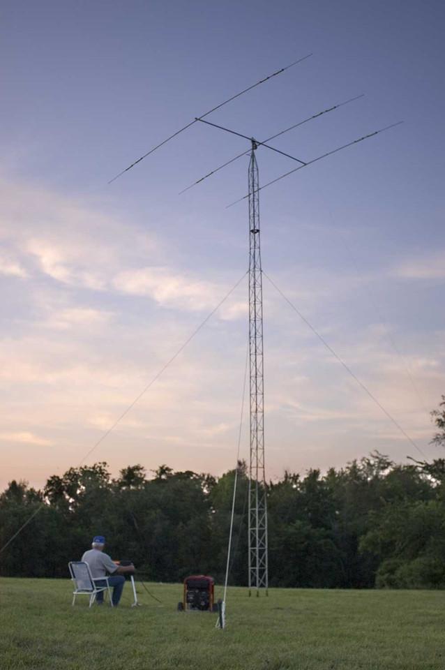 K0OU testing the CW antenna. - <i>Friday, evening</i>