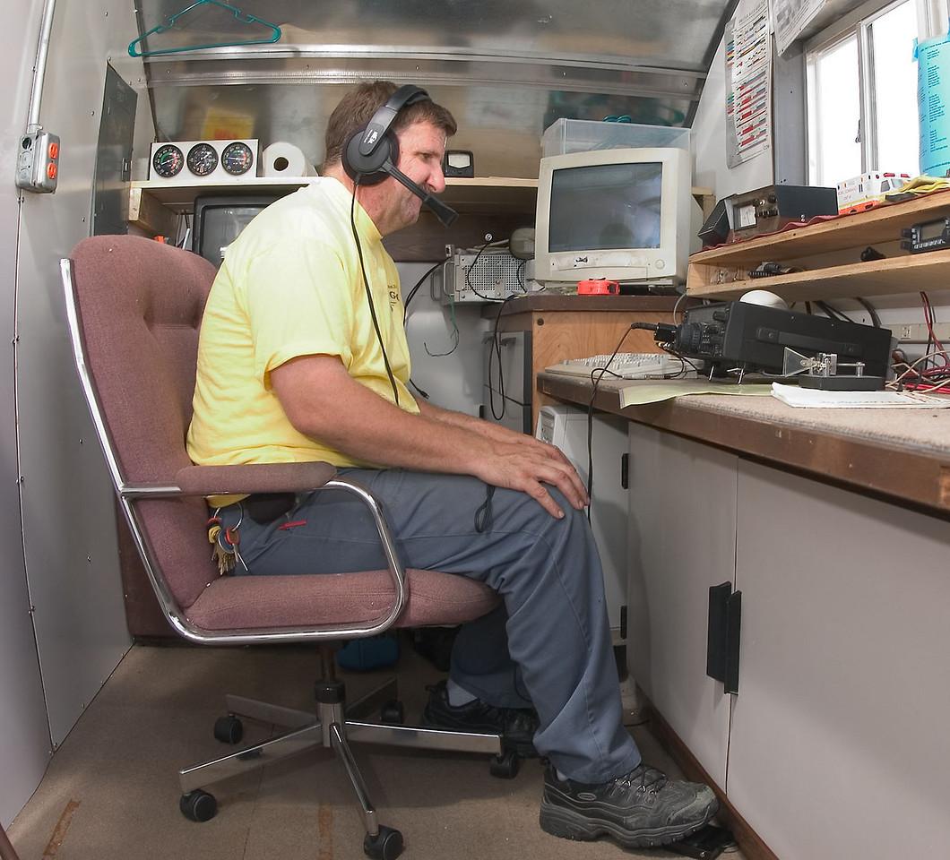 KC0DDZ gets the UHF/VHF station on the air.<i> - <i>Saturday, mid-day</i></i>