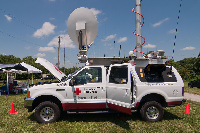 Saturday morning the Red Cross communication truck stopped by for a visit.