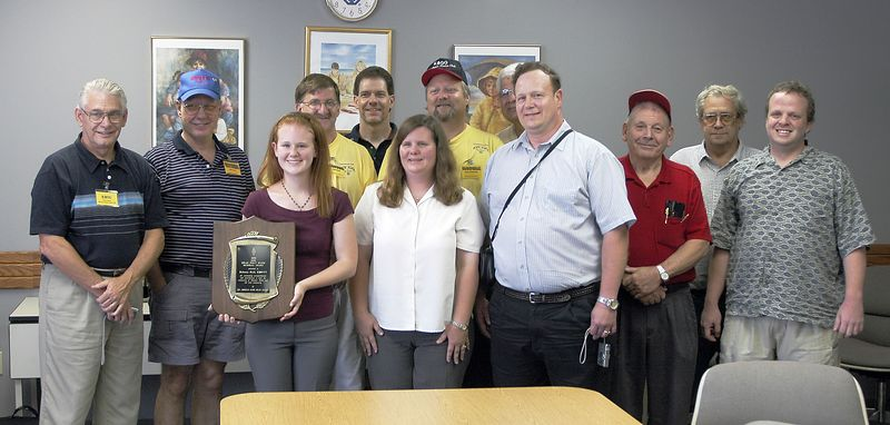 "There were several members of the <a href=""http://www.k0gq.org"" title=""Go to the Raytown Amateur Radio Club hompage"">Raytown Amateur Radio Club</a> in attendance for the presentation. From left to right: K0OU, W0FEN, KB0VVT, KC0DDZ, KC0NOX, KG0UT, KC0ELZ, N0IJT, KG0US, W0GMV, K0DCL and AB0WA"