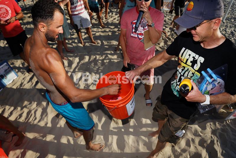 Paul Araiza draws the winning ticket for a Hydro Flask